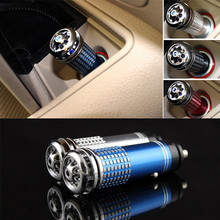 цена на 12V Car Fresh Air Ion Purifier Universal Auto Air Humidifier Anion Ionic Purifier Oxygen Bar Ozone Ionizer Cleaner Car Interior