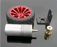 2PCS 25GA370 DC gear motor + bracket + coupling + intelligent robot car wheel motor DIY Model Technology Toy Accessories
