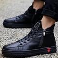 Invierno de Los Hombres Zapatos Casuales Zapatos de Deporte Para Correr Zapatos Para Caminar de Cuero de La Pu Para Hombre Entrenadores Superestrella de Piel Caliente Botas de Felpa Zapatilla Hombre Rojo