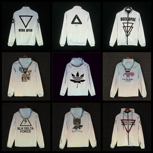2015 casual hip-hop brand winter plus size  waterproof  reflective jacket men clothes outdoor baseball coat windbreaker