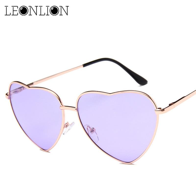 LeonLion 2018 Vintage Coeur lunettes de Soleil Femmes Marque Designer Bonbons  Couleur Gradient Lunettes de Soleil En Plein Air Lunettes Parti Oculos De  Sol ... 5e704385adcd