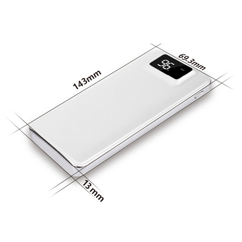 Slim 000 mAh Power Bank Portable Ultra-thin Polymer Powerbank battery power-bank With LED Light Fast Charger for Mobile Phone 3