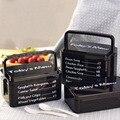 Recipientes de Comida de Microondas Lancheiras Coreano Novo Marmita dupla Selado Caixas de Almoço de Bento Lunch Box Set Para Crianças Coreano Criança