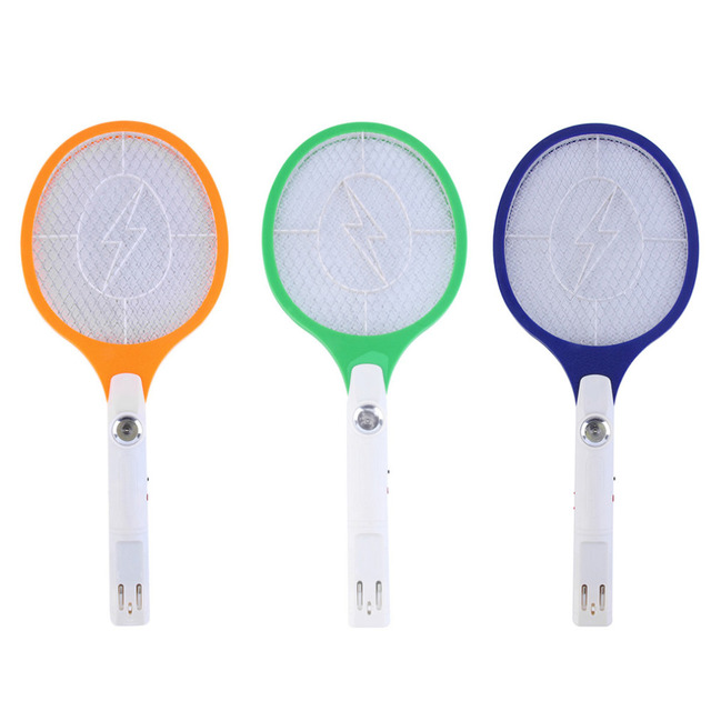 1pcs Rechargeable LED Electric Insect Bug Fly Mosquito Zapper Swatter Killer Racket 3-layer Net Safe
