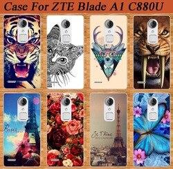 На Алиэкспресс купить чехол для смартфона fashion case for zte blade a1 c880u 5inch cute cartoon high quality painted tpu soft case skin back cover shell for zte a1 c880u