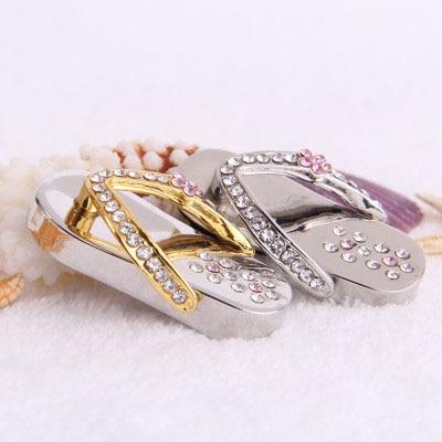 STmagic Beautiful crystal shoes model USB Flash Drive 4GB 8GB 16GB precious stone 32GB pen drive special gift