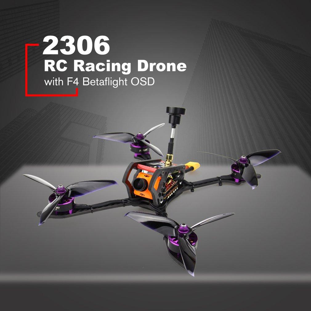 HGLRC 2306 4-5 S Mefisto 226mm Carbone fibre Empattement FPV RC drone de course quadrirotor PNP AVEC F4 Betaflight OSD 600TVL Caméra
