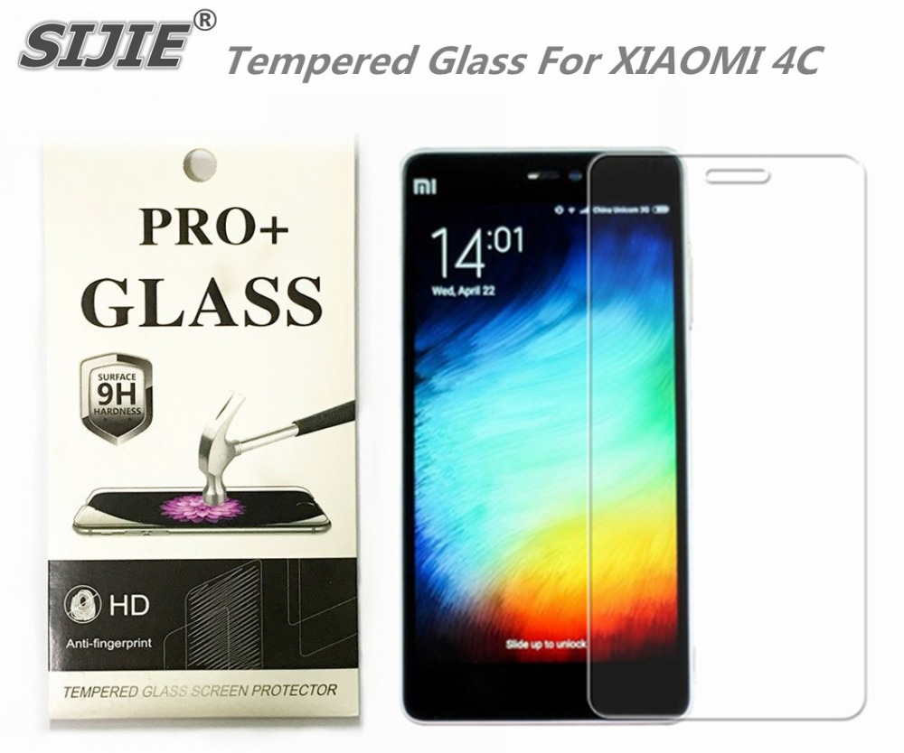 Tempered Glass For XIAOMI 4C MI4C MI M4C 5 inch Screen protective cover smartphone toughened case 9H on crystals thin clear