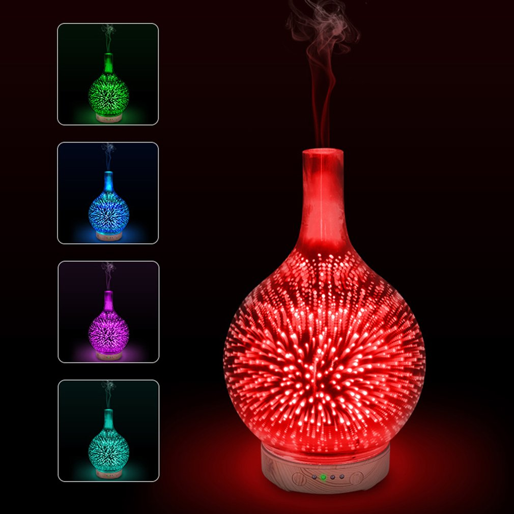 ICOCO Portable 3D Effect LED Night Light with Essential Oil Aroma Diffuser Super Quiet Humidifier Birthday House-warming Gift house party pop up greeting card house warming invite pop up birthday card 3d birthday