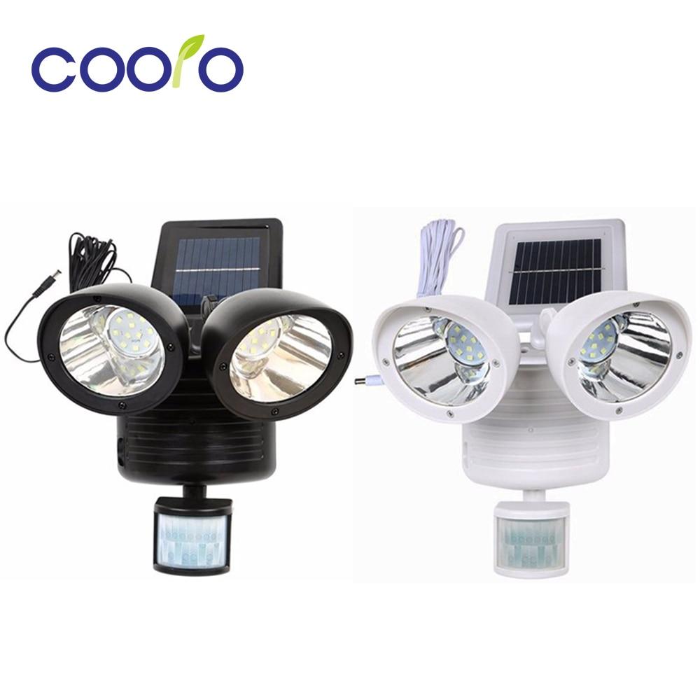 22 LED Dual Head Solar Lamp PIR Motion Sensor High Power Outdoor Waterproof Street Soalr Light Security Lighting Solar Wall Lamp|solar wall lamp|solar lamp|light solar - title=