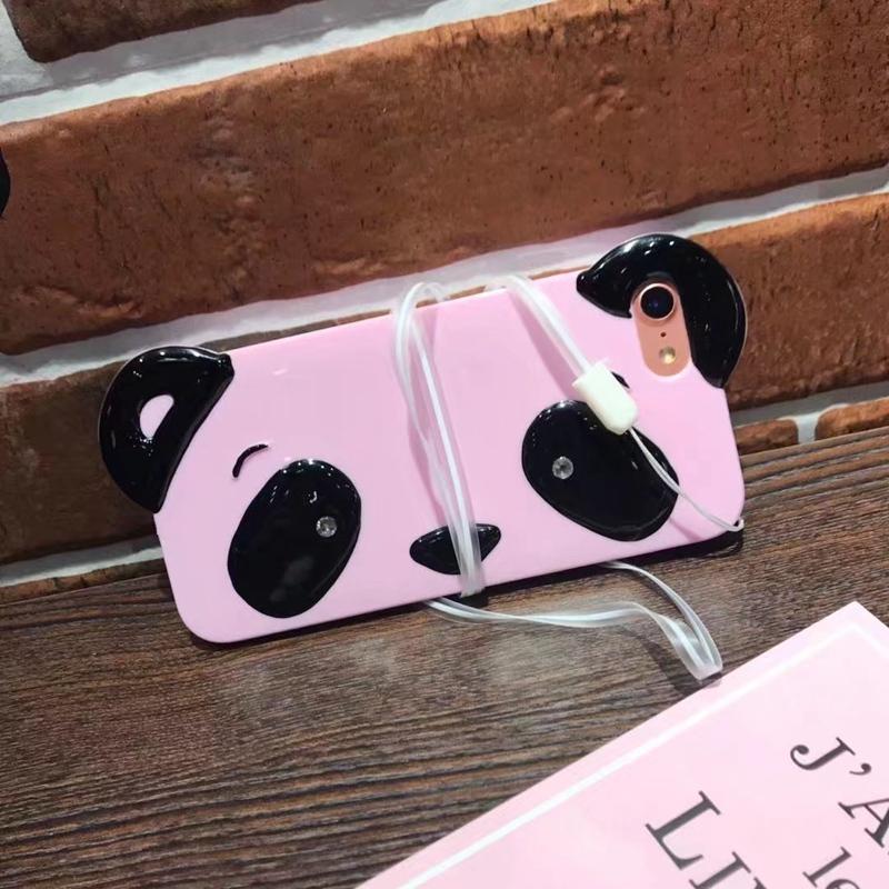 HTB1CTkvRpXXXXcwXVXXq6xXFXXXW - Cute Cartoon 3D Chinese Panda Ears & Eyes Transparent Coque TPU Silicone Soft Clear Panda Phone Case For iPhone 6 6S 7 7 Plus PTC 286