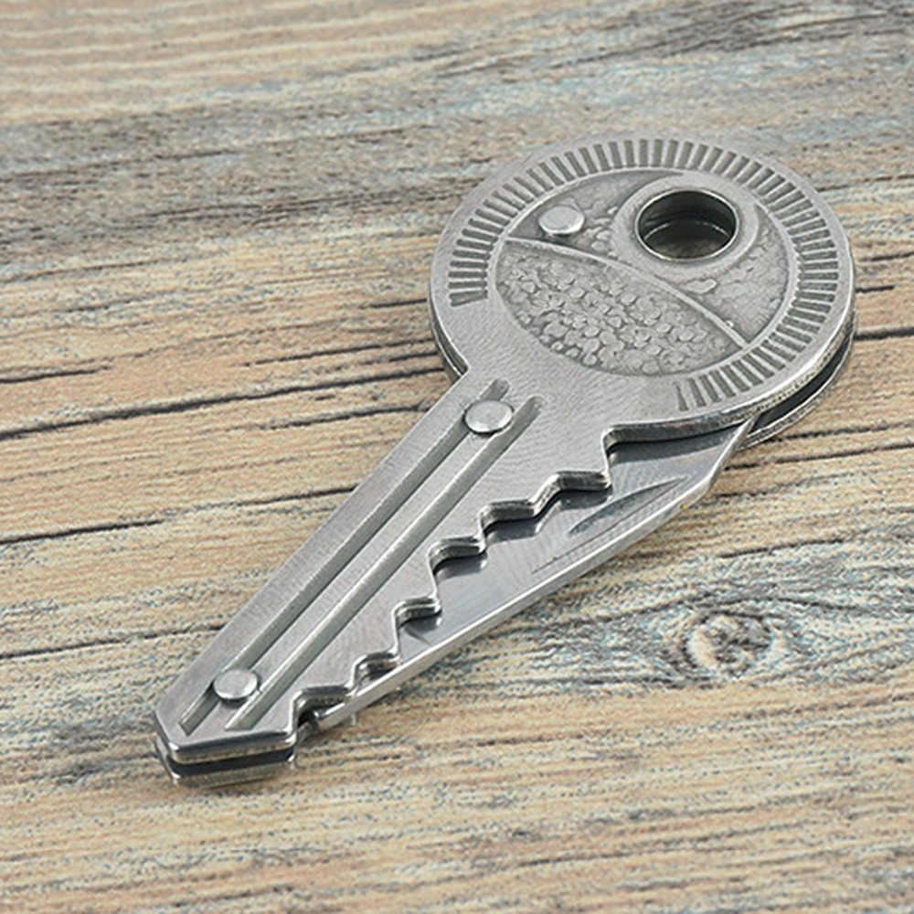 Карманный нож, брелок, нож, Овощечистка, портативный брелок для кемпинга, нож, инструмент, мини-нож в виде ключа, складной ключ