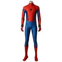 Spider Man Cosplay Costume Peter Benjamin Parker Spider Man Homecoming Cosplay Outfit Halloween Superhero Men Adult
