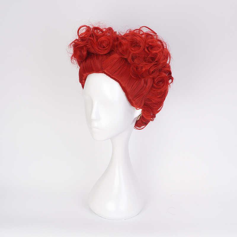 Аниме Алиса в стране чудес Красная Королева кудрявый парик косплей костюм женские короткие синтетические волосы Хэллоуин вечерние ролевые парики