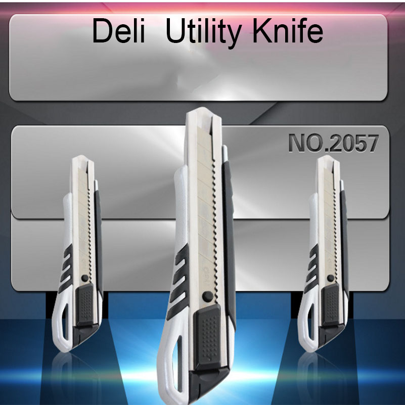 Zinc Alloy Durables Large Utility Knife Open Box Tool Wallpaper Cutter Razor Blades Knife School And Office Stationery