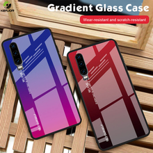 Keajor Tempered Glass Case For Huawei P30 Lite Luxury Gradient Shockproof Cover Pro Capa P20 Funda