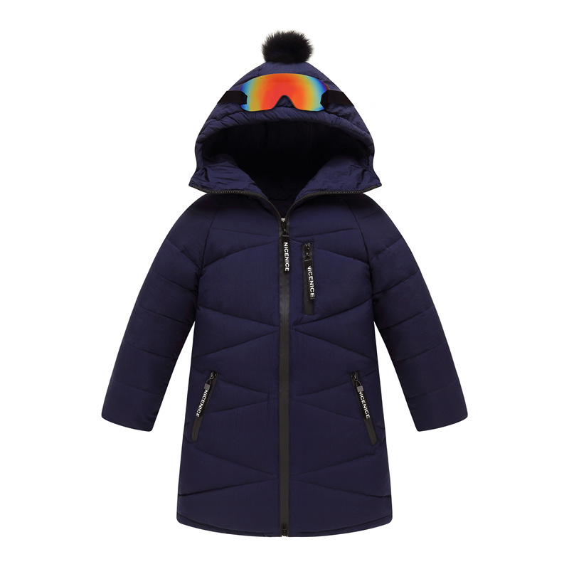 2017 Children's Winter Jackets Boys Coats With Glasses Thick Warm Kids Outwear Duck Down Jacket For Teenager Girls Clothes TZ242 new 2017 russia winter boys clothing warm jacket for kids thick coats high quality overalls for boy down