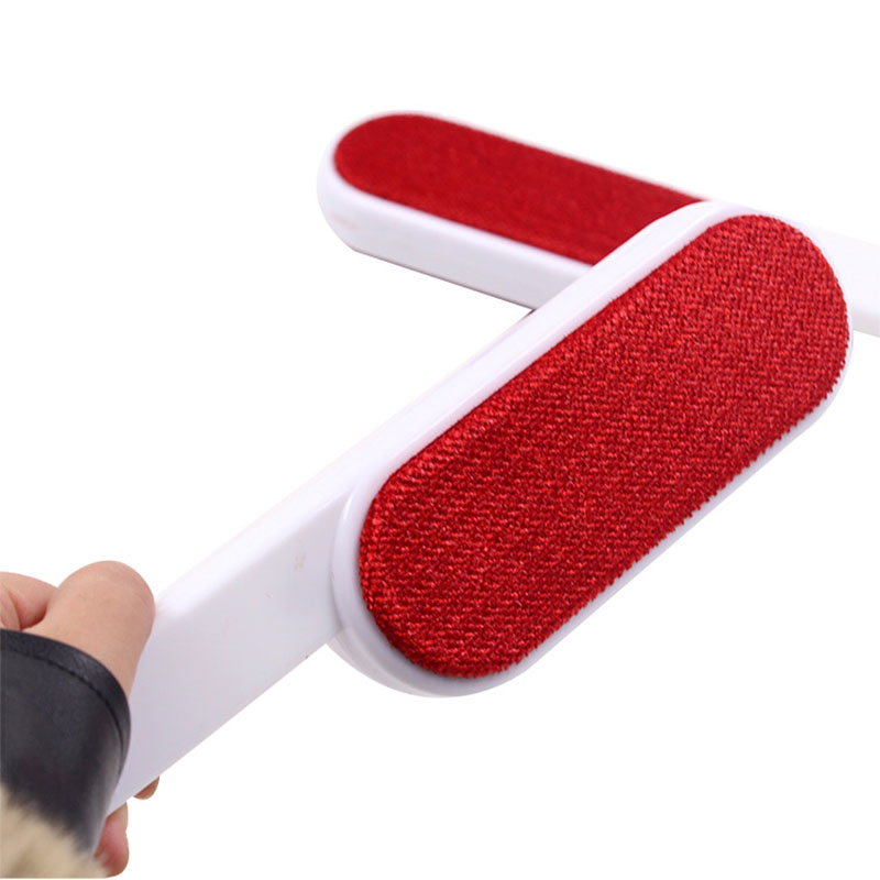 Pet Hair Remover Brush Double Sided Magic Lint Fluff Clothes Dust Brush Pet Hair Remover Dry Cleaner For Dogs Cats 25*5.5cm Red Dog Combs