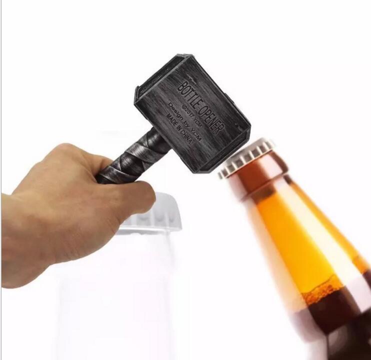 30pcs lot Funny Bottle Opener Creative Thor s Hammer Shape Beer Opener Bar Decoration Silver Bronze