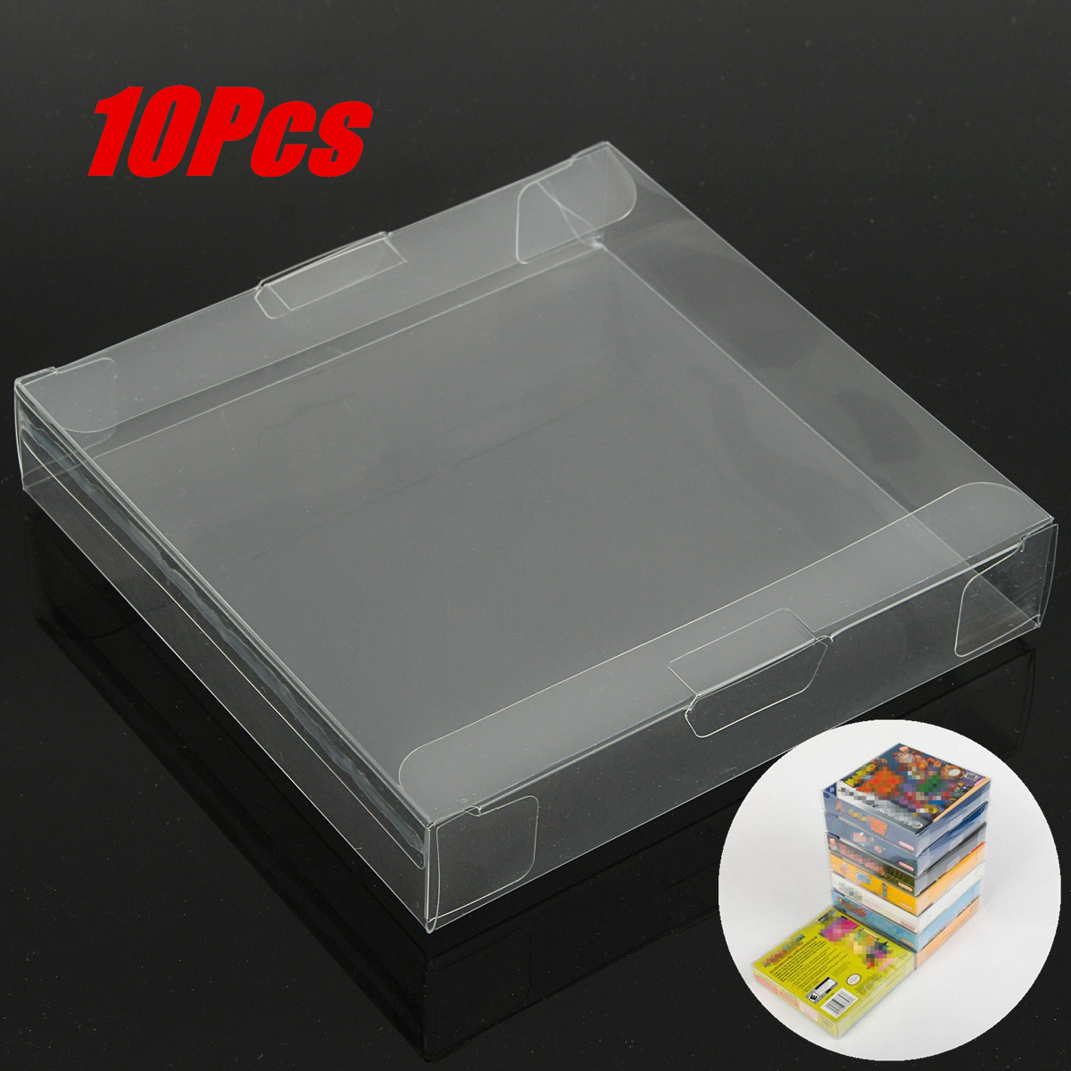 10x Game Cartridge Cover Case Clear Plastic Game Cartridge Case Dust Cover for Nintendo Game boy GBA CIB Boxed Game Protector