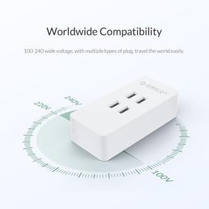 Image 4 - ORICO 4 Port USB Ladegerät Mini Smart Reise ladegerät 5V 2,4 A Max Ausgang 20W Desktop Ladegerät für moible telefon Tablet Pad Lade