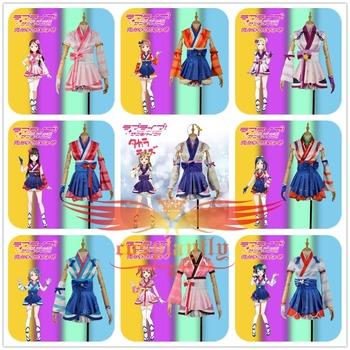 Kocham życie! Słońce!! Aqours Hanamaru Kanan Ruby Yoshiko Riko Chika Dia Watanabe Mari Mijyuku Mijuku marzyciel przebranie na karnawał tanie i dobre opinie CN (pochodzenie) Dresses anime WOMEN Zestawy LoveLive!SunShine!! W1110 Acrylic Kostiumy Costumes Accessories Adult Cartoon Character Costumes