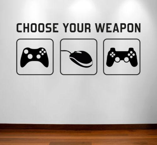 buy gamer wall sticker gaming game remote