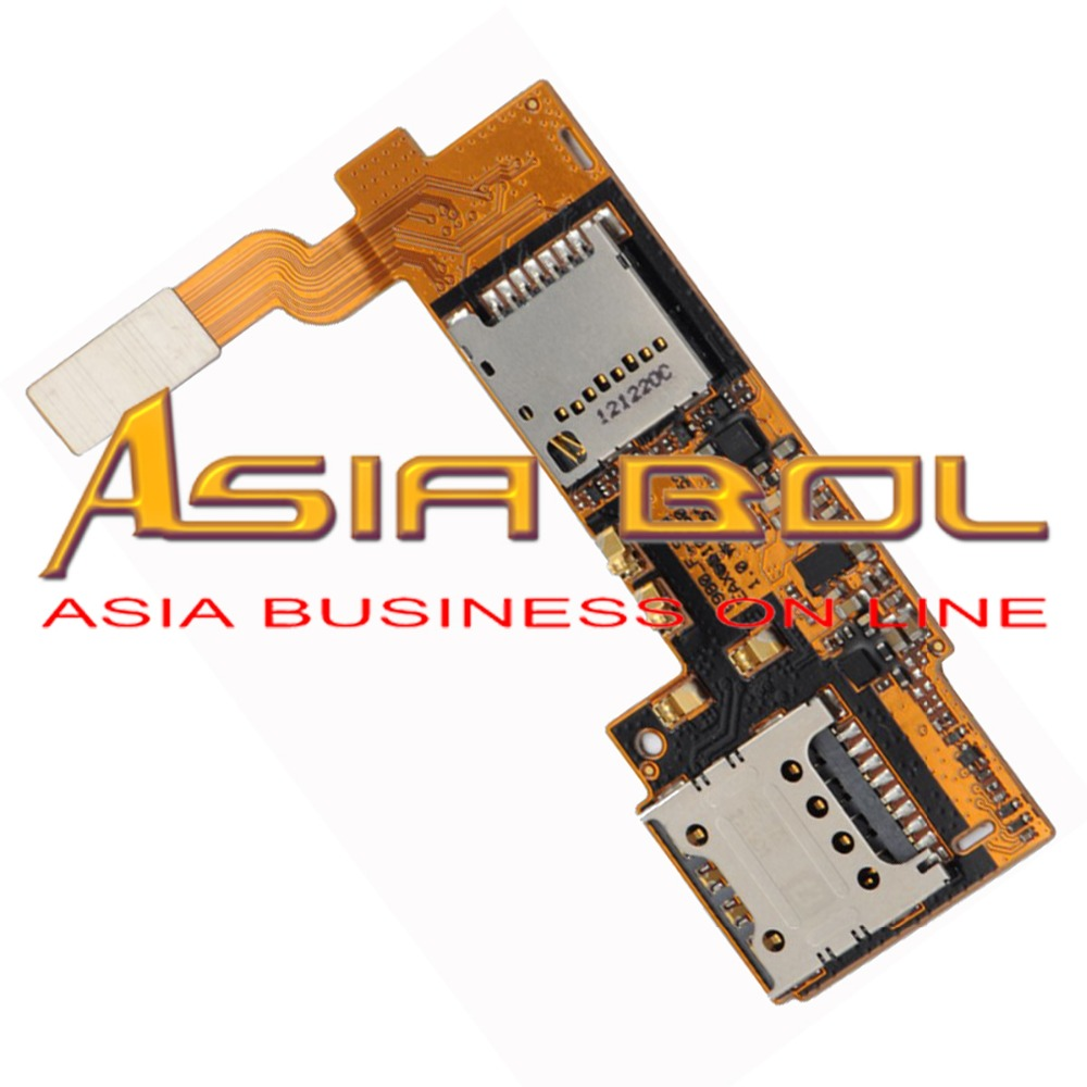 New Memory SIM Card Holders Slot Reader Flex Cable Replacement Parts For Optimus G Pro E980