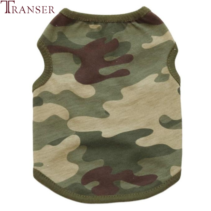 Transer Pet Dog Clothes For Small Dogs Green Camouflage Dog Vest Tee Shirt Pet Tank Top Summer Dog Clothes 80118