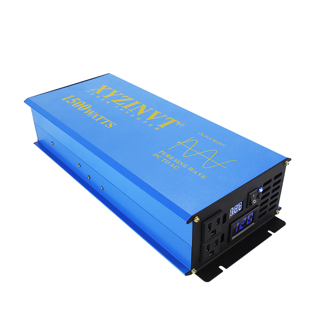 3000W Peak 1500W Solar Panel Inverter 12V 220V Pure Sine Wave Power Inverter Battery Converter 24V/48V DC to 120V/230V/240V AC