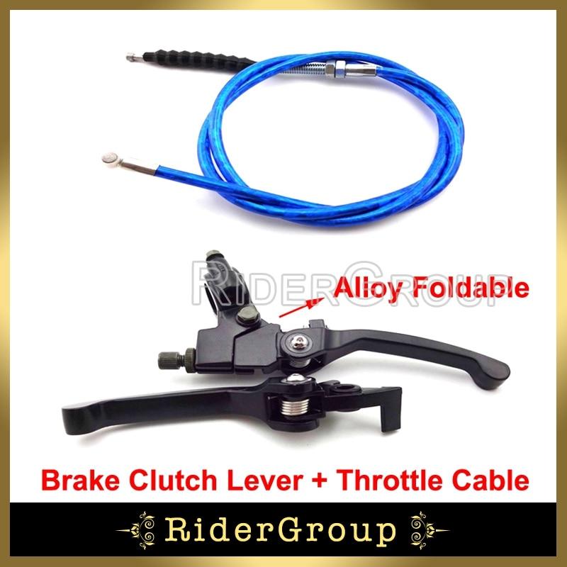 BLUE CNC CLUTCH BRAKE LEVER SET 125CC 140CC 150CC PIT PRO TRAIL DIRT BIKE