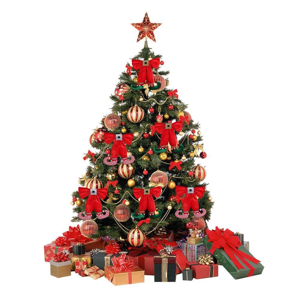 Arrival Cute Elf Foot Shape Bowknot Christmas Handing