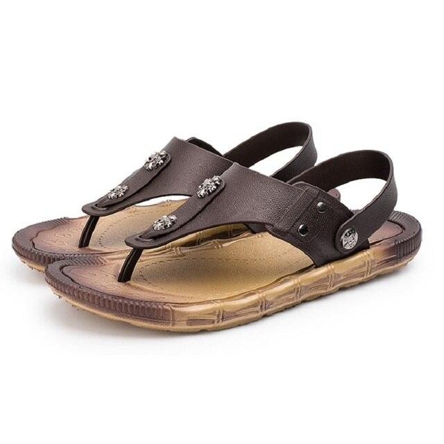 569ee364413 Flip Flops Men Sandals Summer slippers Shoes Casual Walking Seaside Beach  Slides Men s Brand Designer Flats Big size 40-45 YC529
