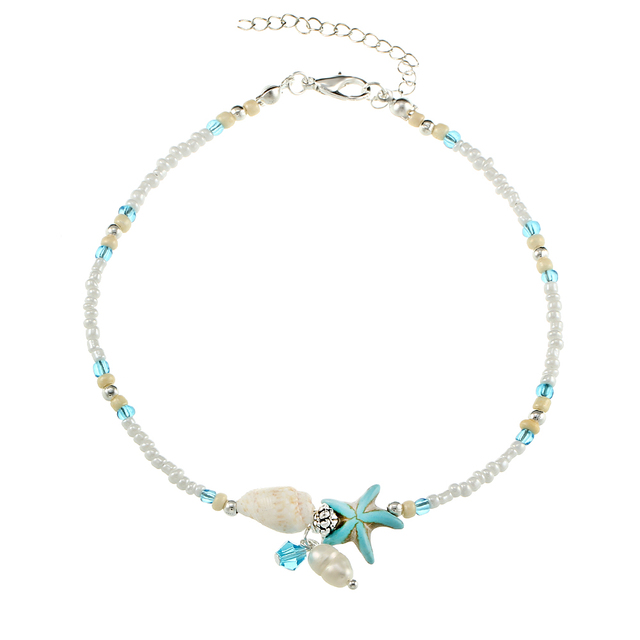 Women's Star Fish Pendant Anklet 4