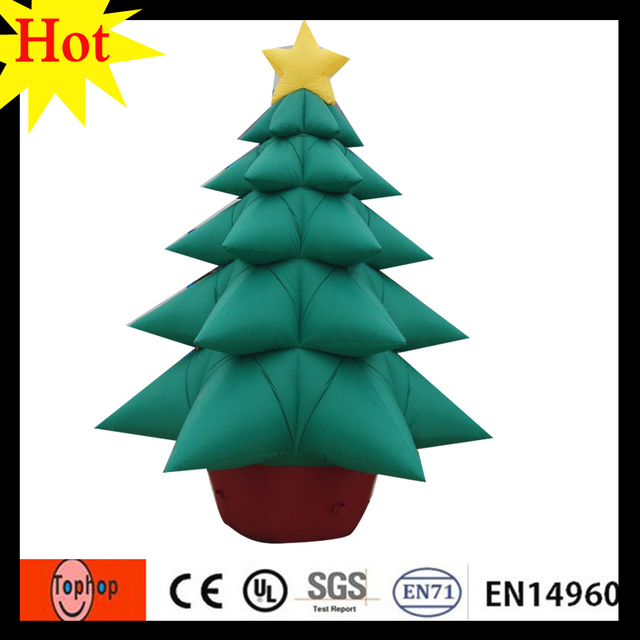 6m 20ft inflatable pvc snowing christmas tree giant outdoor commercial lighted holiday supplies 420d oxford