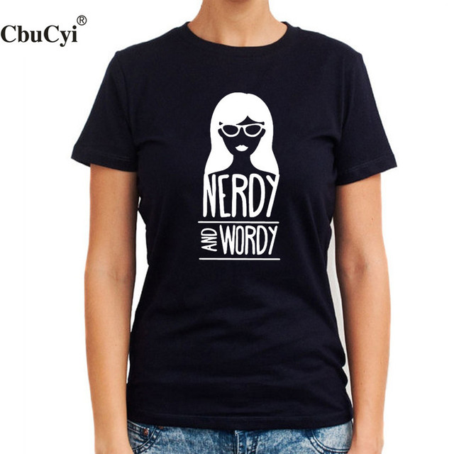 Nerdy and Wordy Cute Graphic Tee Shirt Tumblr Bloggers Funny T ...