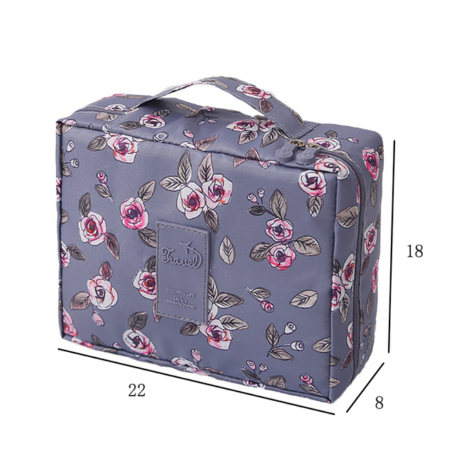 Multifunction Travel Cosmetic Bag Women Makeup Toiletries Organizer Waterproof 2
