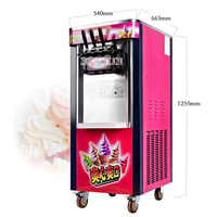 26L/H Vertical Ice Cream Machine, Gelato Machine, BJ218C Ice Cream Maker,Soft Ice Cream Machine 10.5A Rated Current 2000W