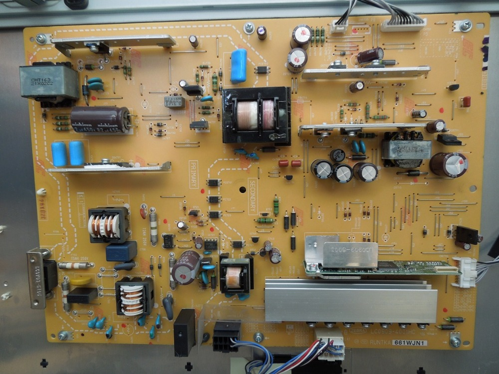 LCD-40LX710A Power Supply LC0909-4001HC RUNTKA661WJN1 is used lcd 32d500a power supply runtka673wjqz jsi 321001 is used