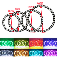 IR Remote RGB Led Halo Ring Light 40mm 50mm 66 72mm 75mm 80mm 90mm 100mm 105mm