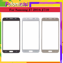 10Pcs/lot For Samsung Galaxy J7 2016 J710 J710F J710FN Touch Screen Outer Glass TouchScreen Lens Front Panel стоимость