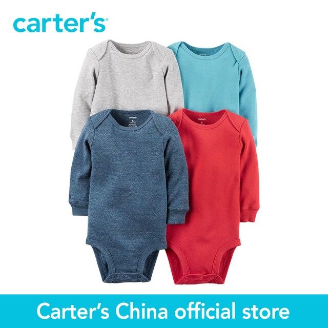 Картера 4 шт. детские дети дети С Длинным Рукавом Боди 126G339, продавец картера Китай официальный магазин