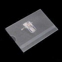Portatarjetas de identificación transparente, PVC, resistente al agua, transparente, 90x54x100mm