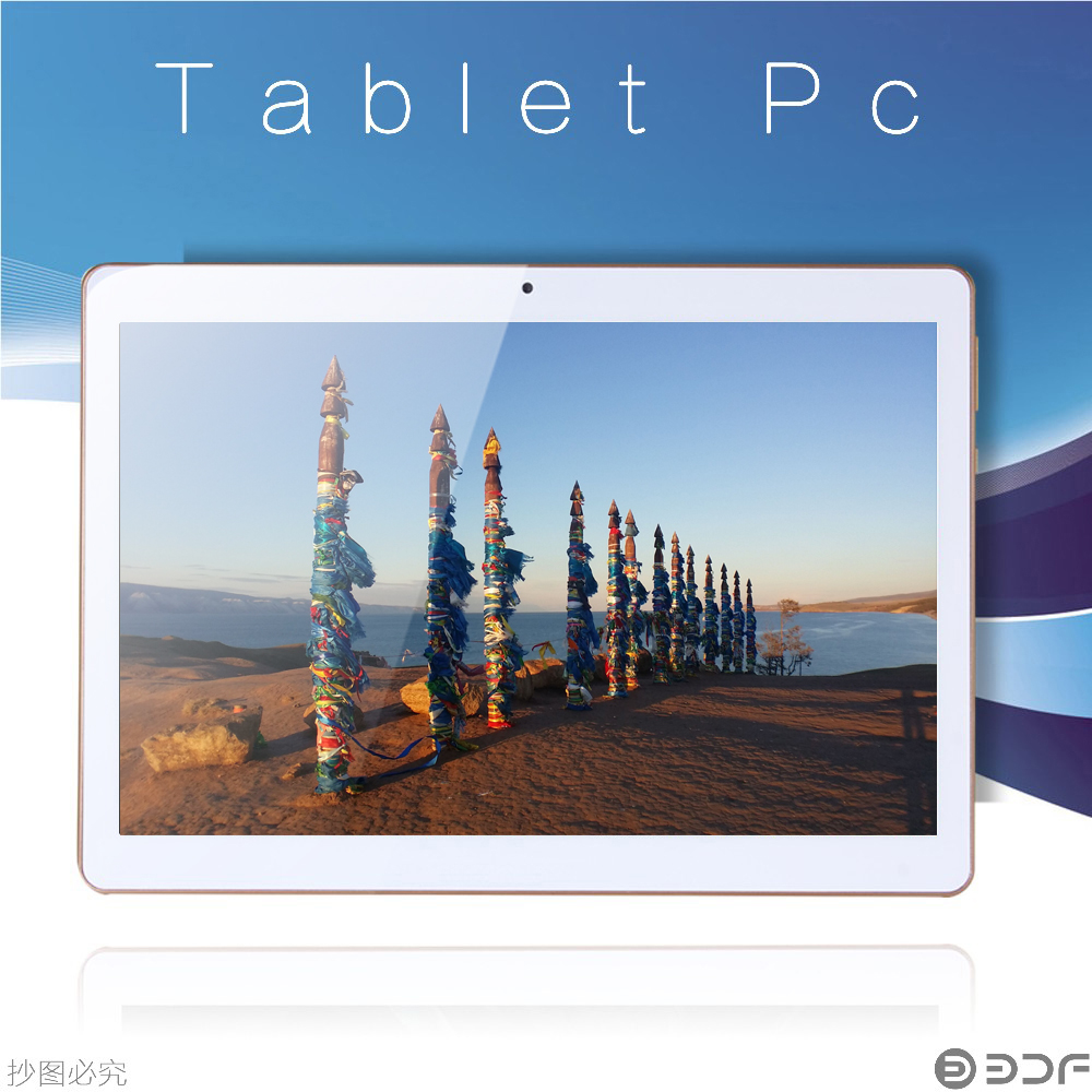 BDF New Android Tablet 10 Inch MTK Quad Core 3G Sim Tablet Pc Dual Call Phone 1280*800 IPS LCD Bluetooth WIFI 789 Inch Tablets(China)