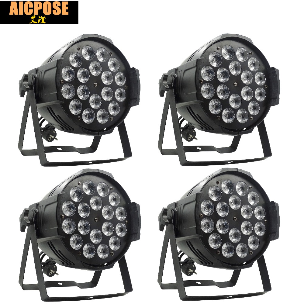 4pcs/lots 18*12w Light Aluminum LED Par 18x12W RGBW 4in1 LED Par Can Par 64 led spotlight dj projector wash lighting stage light 4pcs lot aluminum led par 18x12w rgbw 4in1 led par can par 64 led spotlight dj projector wash ligh with power in power out