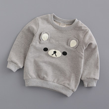 цена на Jchao kids Bear ears Hoodies Children Sweatshirt Boys Girls Spring Autumn Coat Cartoon Long Sleeve Casual Outwear Baby Clothing