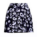Summer Style 2016 Sexy Women Skirt Popular Digital Print fashion Stay Meng cute white face skull Above The Knee Skirts Drop Ship