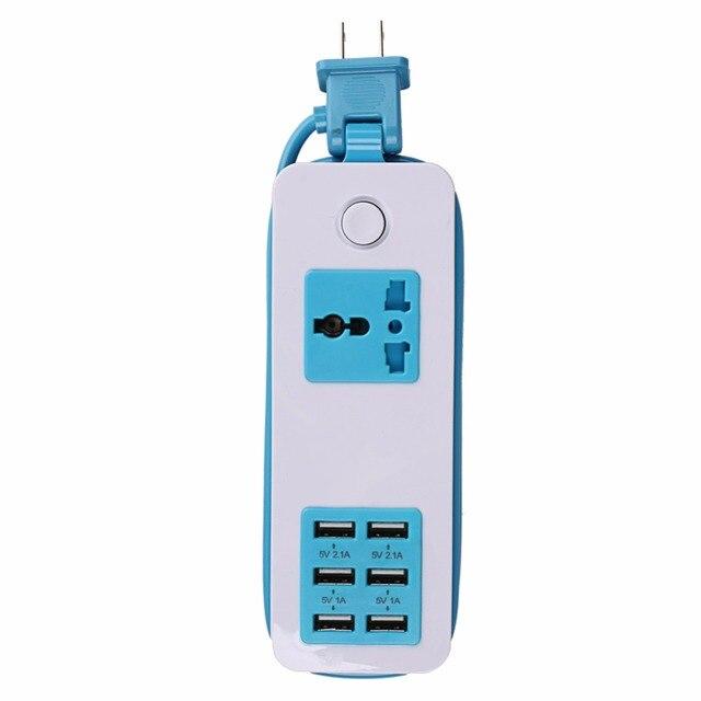 Новое Прибытие 6 USB Порта Экран США ЕС Вилка ВЕЛИКОБРИТАНИИ путешествия AC Адаптер Питания Разъем Смарт-Зарядное Устройство Для Телефона Tablet камера