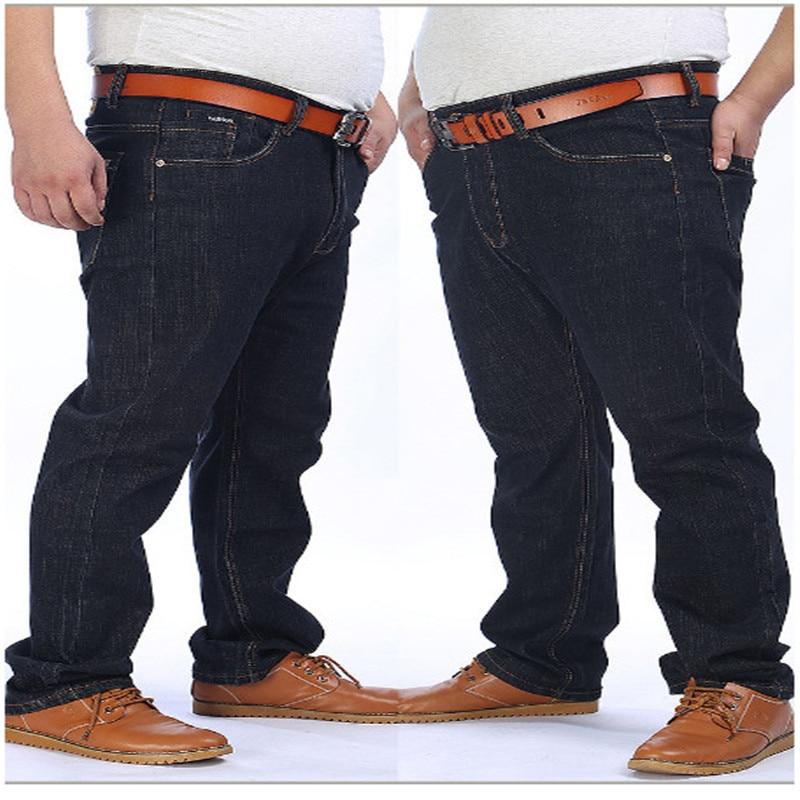 Jeans di inverno di sesso maschile dritto pantaloni di spessore super Grande moda casual da uomo più dimensioni extra 36 38 40 42 44 46 48 50 52