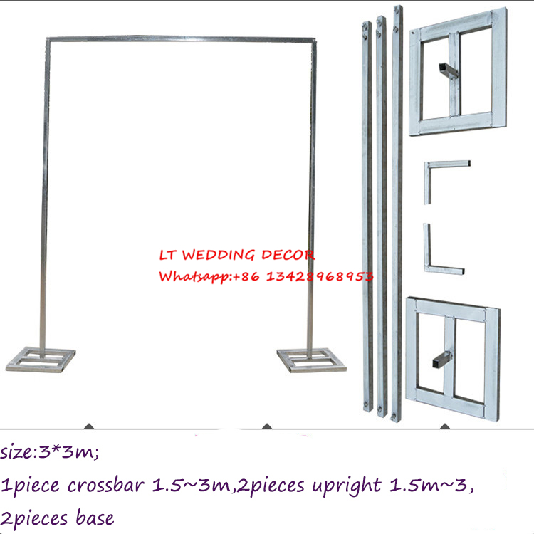 3m*3m wedding zincplated metal wedding backdrop stand/drap stand/piping frame